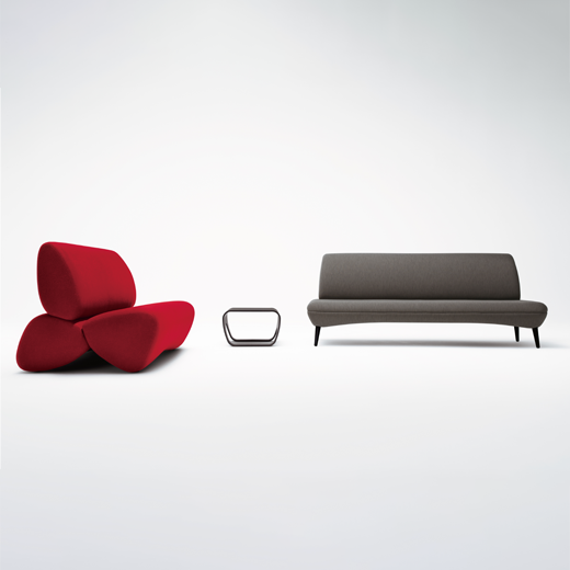 Okamura nagare lounge seating neocon 2021 padstyle.com